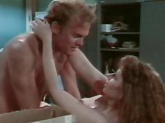 Retro shoot of big tits babe getting throbbed hardcore in office