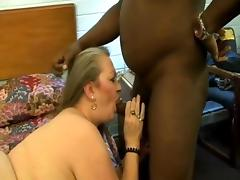 Grandma In Sexy Nylons Fills Her Holes With Black Cock