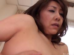 Eastern MILF masturbates passionately while thinking about cocks