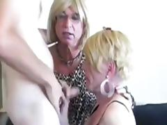Amazing Homemade Shemale record with Blowjob, Mature scenes