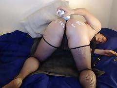 Shiny james - sissy doggy anal dildo ass to mouth