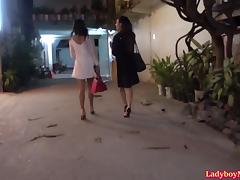 Three Hot Ladyboys In The Room