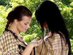 Hot lesbians lick each other on Sapphic Erotica - Klara and