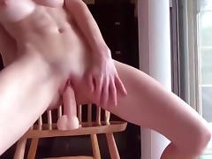 Gymnast, Babe, College, Dildo, Gym, Masturbation
