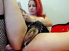 Cam milf lady gushing pussy juice