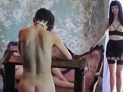 lesbian slave serve three Mistress