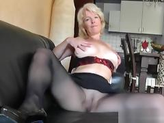 MILF nylon to wank: Dirty Talk