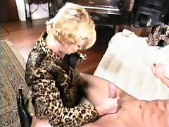 Blonde MILF has a blast while being plowed by a stiff boner