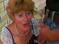 Granny, German, Granny, Mature, Old, Outdoor
