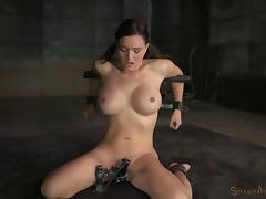 Busty chick called Krissy knows that it's time for deepthroating