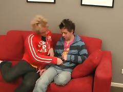 teasers on the sofa