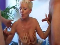 Horny pornstar Edith Morehead in exotic gangbang, gilf porn clip