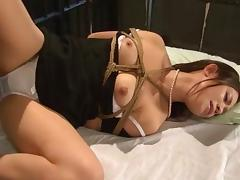 Foxy Asian babe simply adores being bound and fucked hard