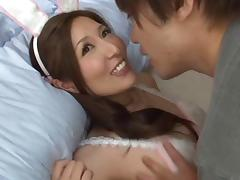 Sassy Japanese babe simply loves riding on big cocks