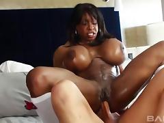 Black MILF called Yvette and the white dick inside her hole