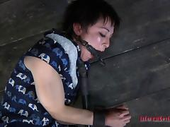 Woman with short hair gets drilled up her ass with sex toys