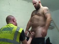 Hot big beefy hairy bear workmen
