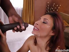 Muscular ebony masseur intends to give Jade just what she needs