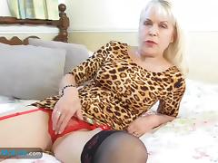 Hot european blonde mature showing off her amazing body