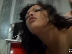 Chubby n busty french arab slut ass pounded and creamed
