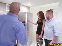 Latina tranny assfucked by realestate broker