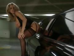 Car, Car, Dildo, Masturbation, Stockings, Toys