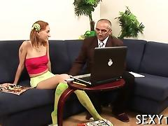 Lustful mature teacher fucks wicked babe senseless