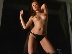 Lustful Asian starlet Fujii Shelly screams as a cock rams her pussy