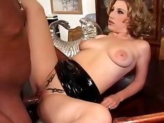 Hottest pornstar Kat Langer in best interracial, cunnilingus porn clip