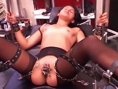 Cute girl is tied, clamped and vib till cum