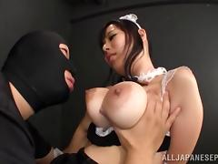 Cute Japanese babe being fondled and fucked by a robber