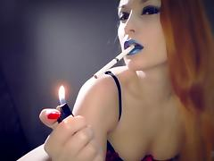 Lipstick Smoking Fetish