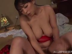 Ryoko Murami performing a nuru massage with her mouth and tits