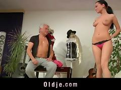 Teenie girl ass fucking cock sucking old teacher