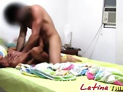 Petite Latina horny as hell screwed hard in the hotel room