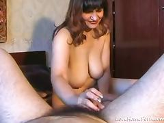 Hairy Husband Gets His Dick Sucked By An Old Cutie