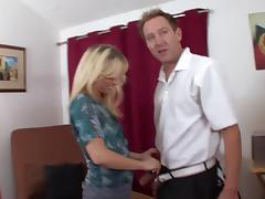 Ball Licking, Blowjob, Couple, Cowgirl, Hardcore, Nylon