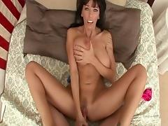 Crazy pornstar Alia Janine in incredible anal, brunette porn video