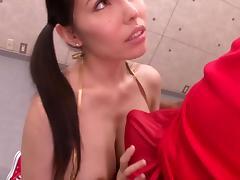 lovely Japanese milf enjoys black cocks