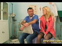 cute teen gets fucked by our clinic doctor