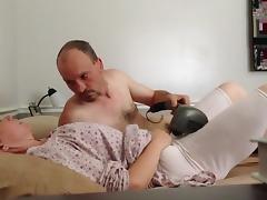 Pulsating vibrator orgasm  getting fucked in mormon garments
