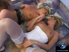 Mike Foster is damn lucky to fuck sexy Stefany and Danni Cool at the same time