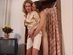 Mom, Footjob, Fucking, Legs, Mature, Mom