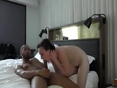 Sexy Couple Do It Lovingly in the Bedroom in Diffe...