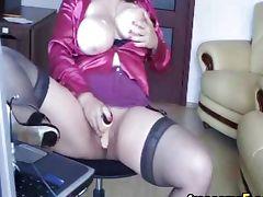 Big tits chubby babe webcam