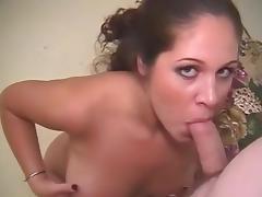 Amazing pornstar in best cunnilingus, brunette adult movie