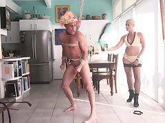 Pro Domina Takes Down A Partyboy