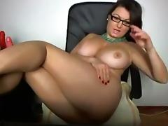 Naughty mama got boobs and flaunts them on webcam