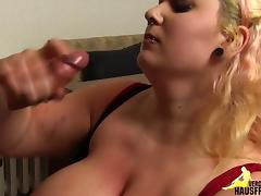 Blonde with huge tits