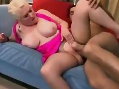 Blonde GILF Big Boobage Anal